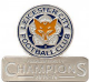 Leicester City Champions metal / enamel pin badge    (spg)